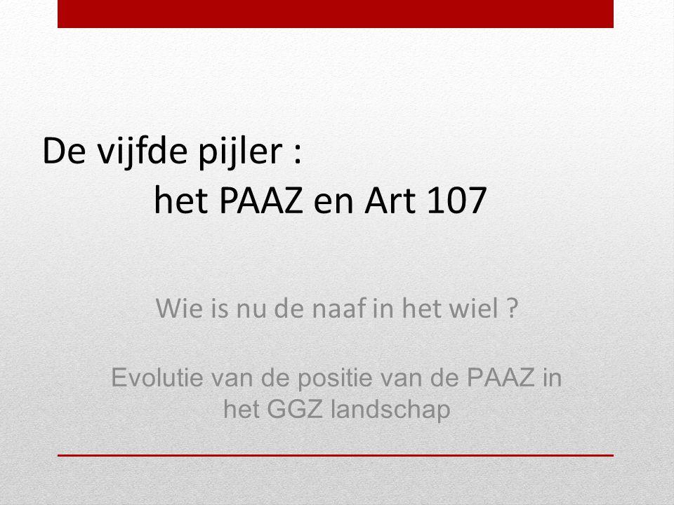 De vijfde pijler : het PAAZ en Art 107 Wie is nu de naaf in het wiel