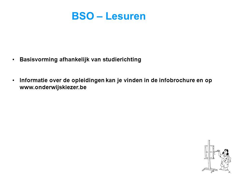 BSO – Lesuren Basisvorming afhankelijk van studierichting