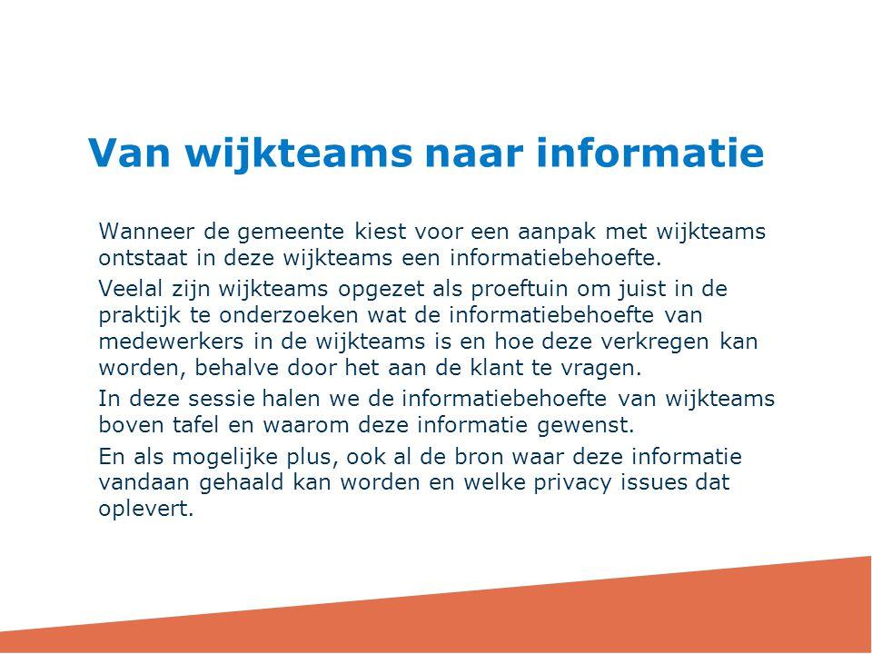 Van wijkteams naar informatie