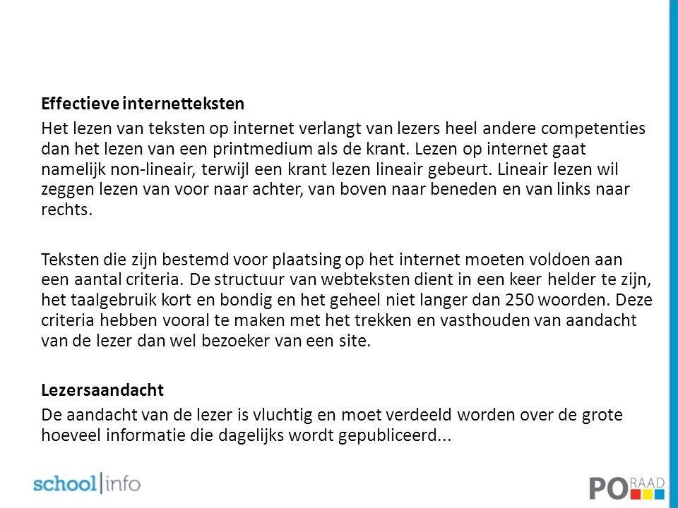 Effectieve internetteksten