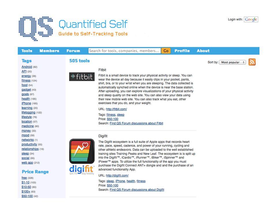 Zoek een van de 505 tools op http://quantifiedself.com/guide/