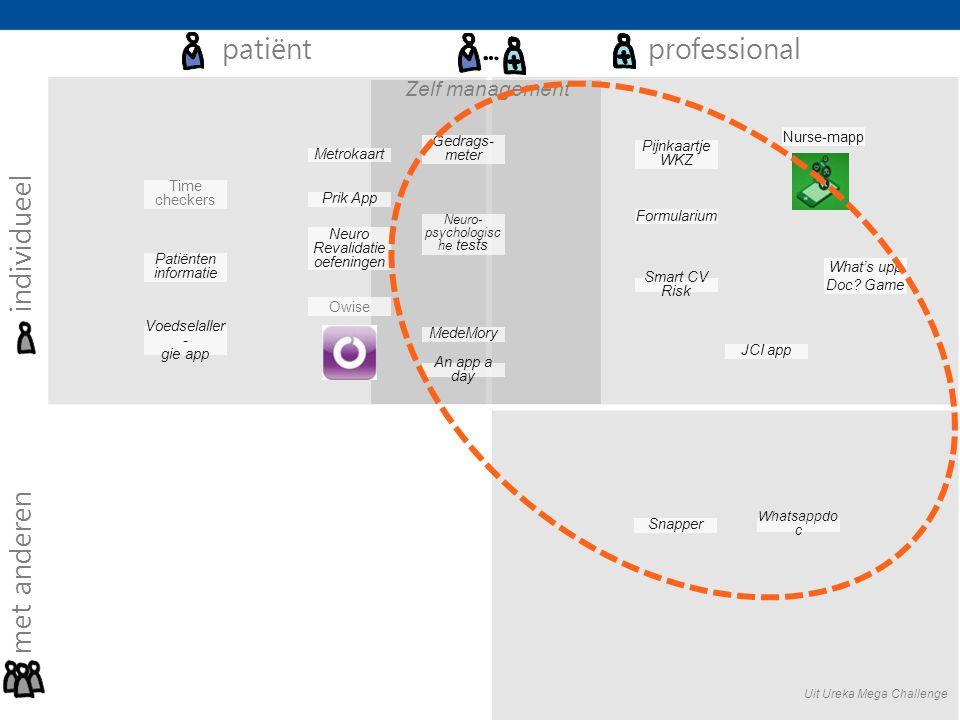 patiënt professional individueel met anderen Zelf management
