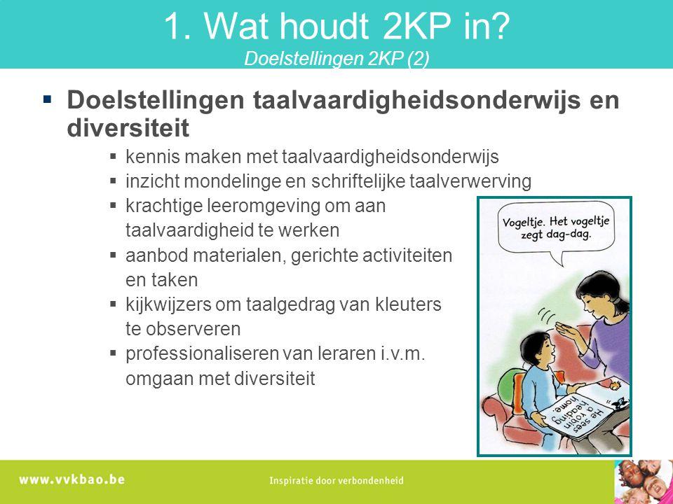 1. Wat houdt 2KP in Doelstellingen 2KP (2)