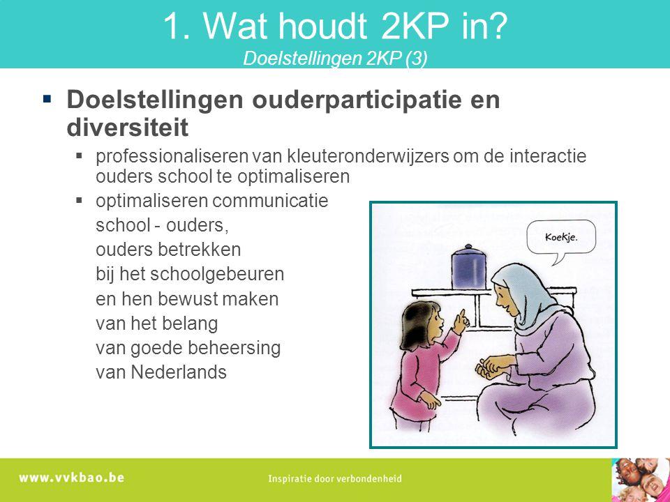 1. Wat houdt 2KP in Doelstellingen 2KP (3)