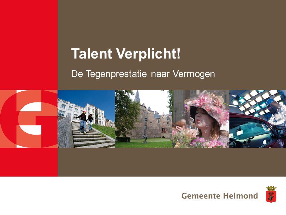 Talent Verplicht! De Tegenprestatie naar Vermogen