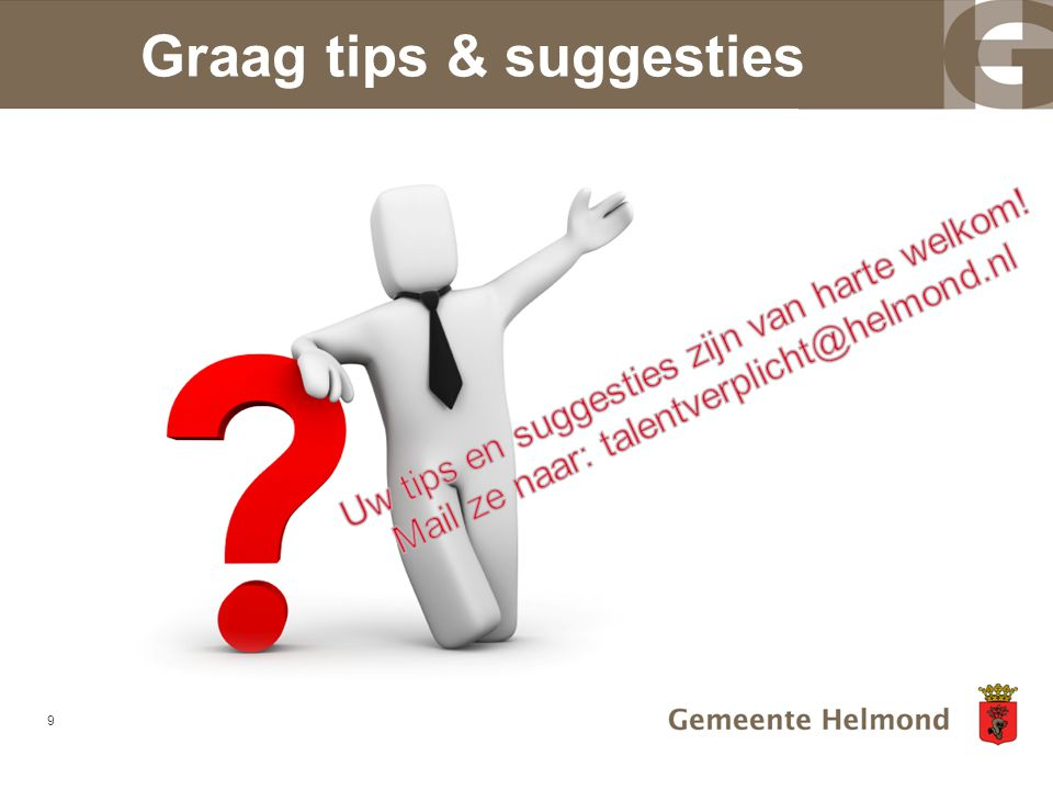 Graag tips & suggesties