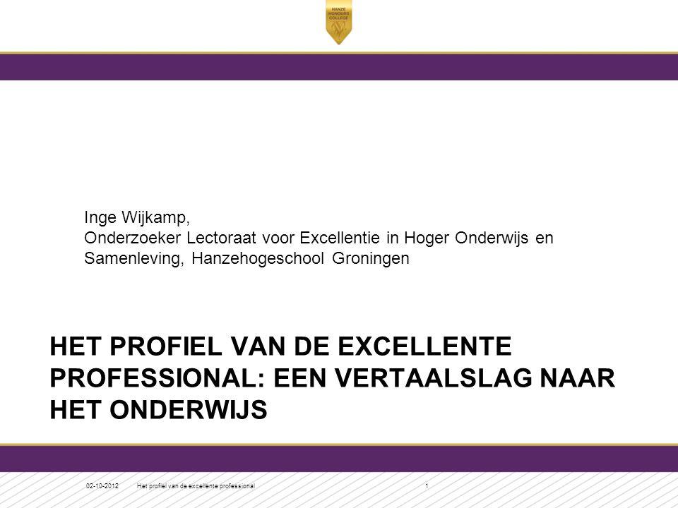 Inge Wijkamp, Onderzoeker Lectoraat voor Excellentie in Hoger Onderwijs en Samenleving, Hanzehogeschool Groningen
