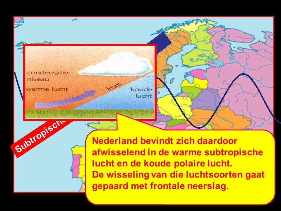 Polaire lucht Subtropische lucht.