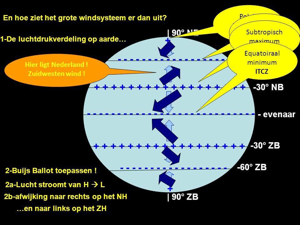 Hier ligt Nederland ! Zuidwesten wind !