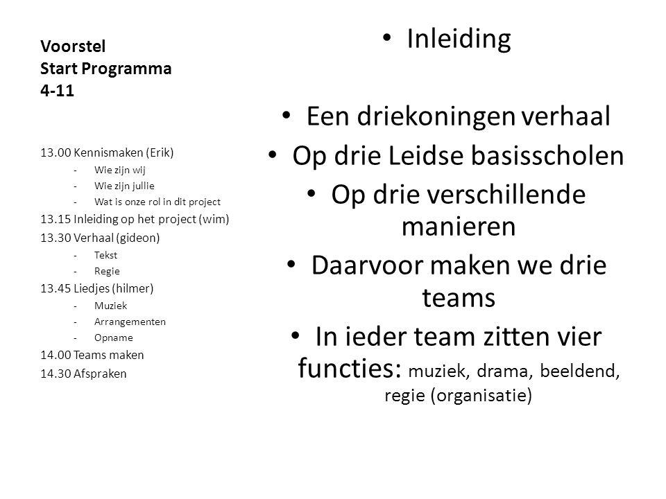 Voorstel Start Programma 4-11