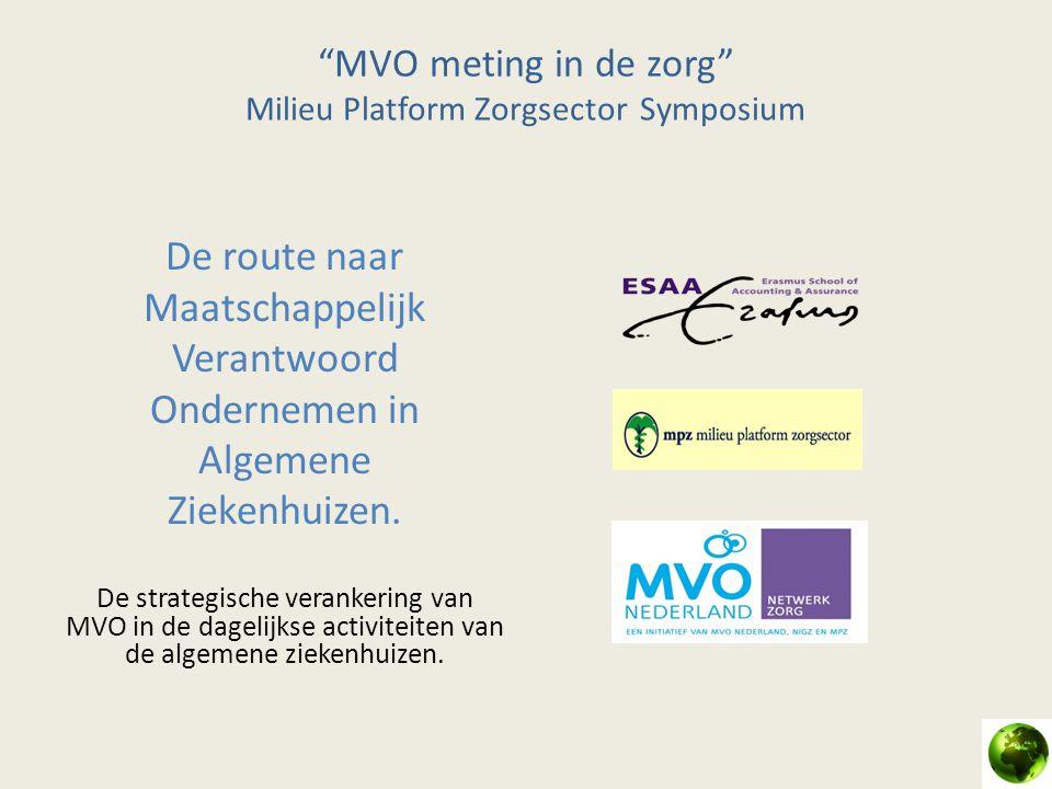 MVO meting in de zorg Milieu Platform Zorgsector Symposium