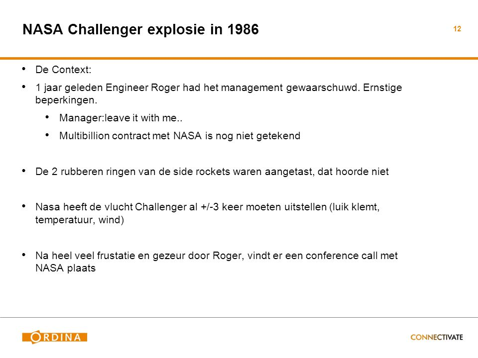 NASA Challenger explosie in 1986