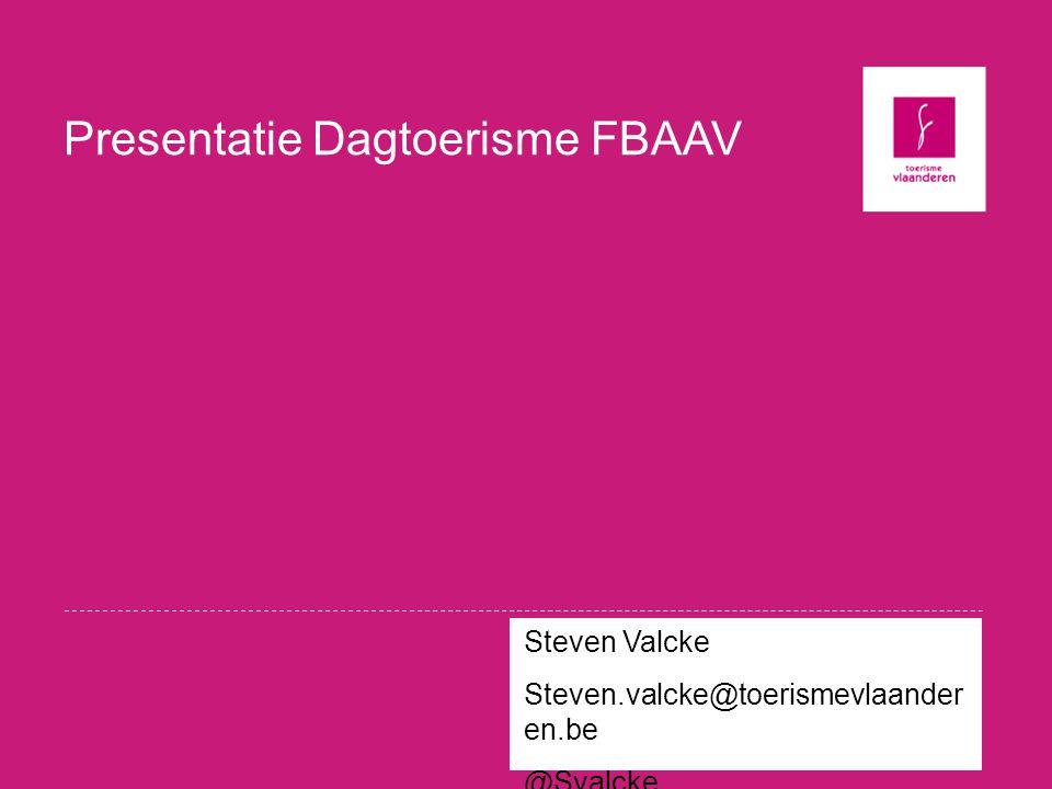 Presentatie Dagtoerisme FBAAV