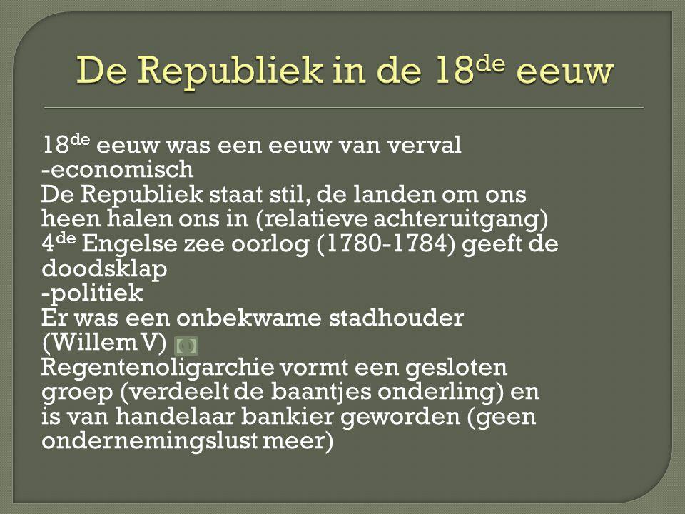 De Republiek in de 18de eeuw