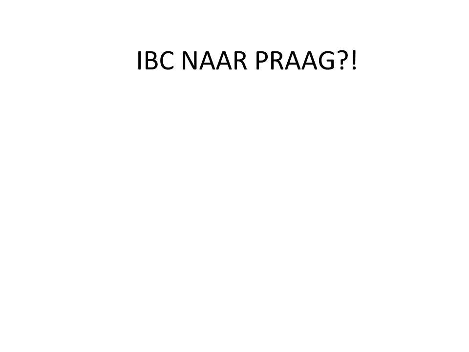 IBC NAAR PRAAG !