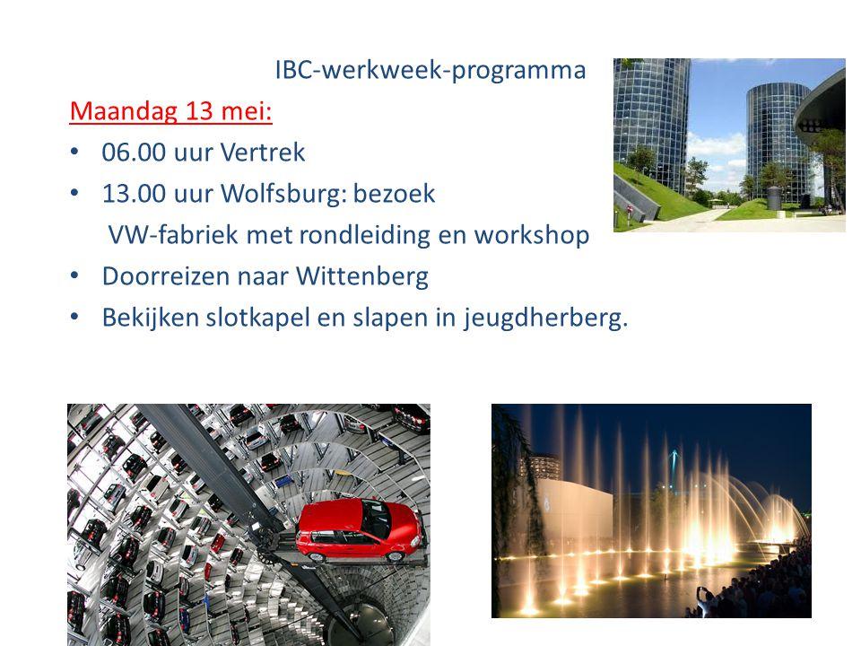 IBC-werkweek-programma