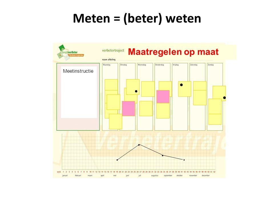 Meten = (beter) weten Maatregelen op maat Meetinstructie