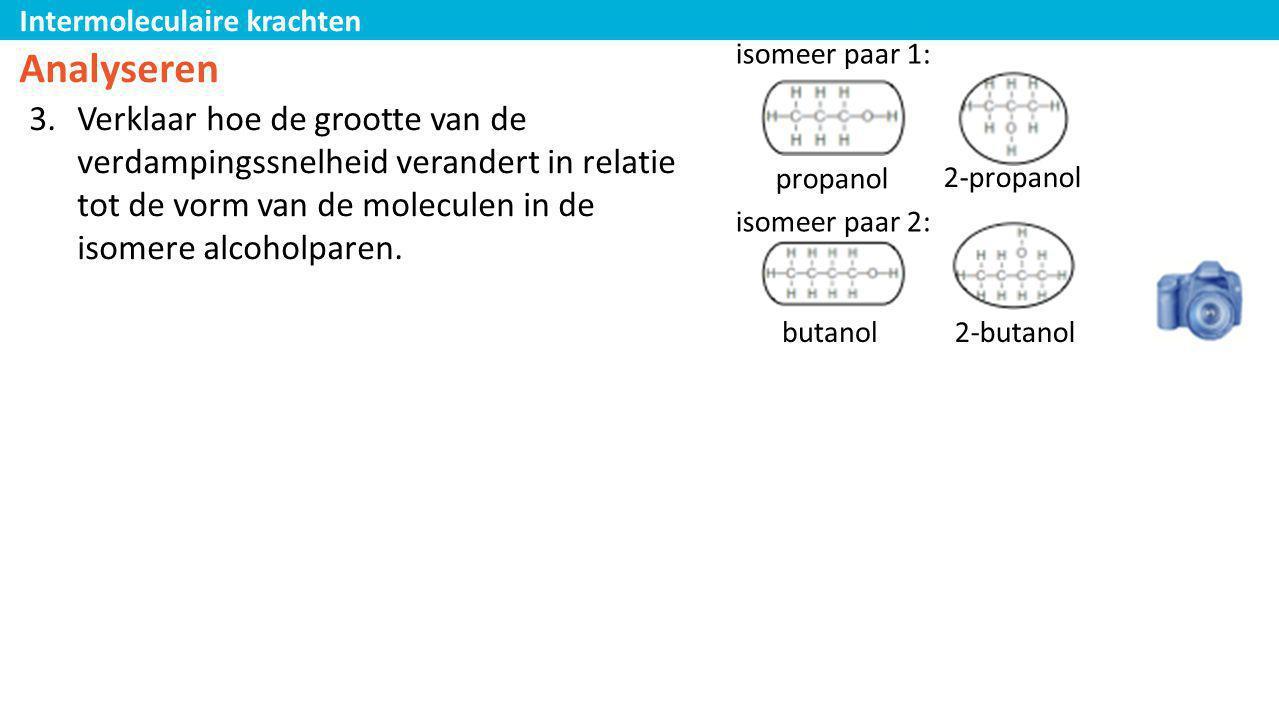 isomeer paar 1: Analyseren.