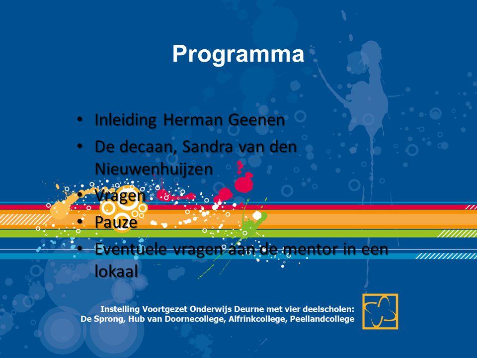 Programma Inleiding Herman Geenen