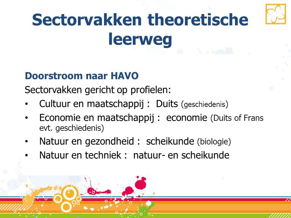 Sectorvakken theoretische leerweg
