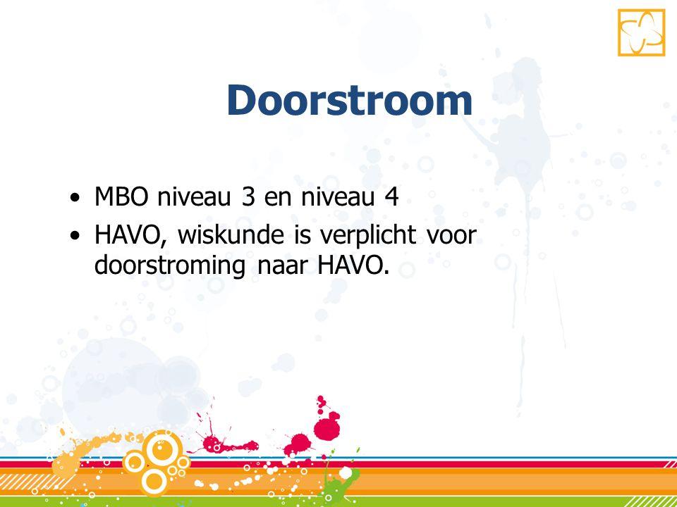 Doorstroom MBO niveau 3 en niveau 4