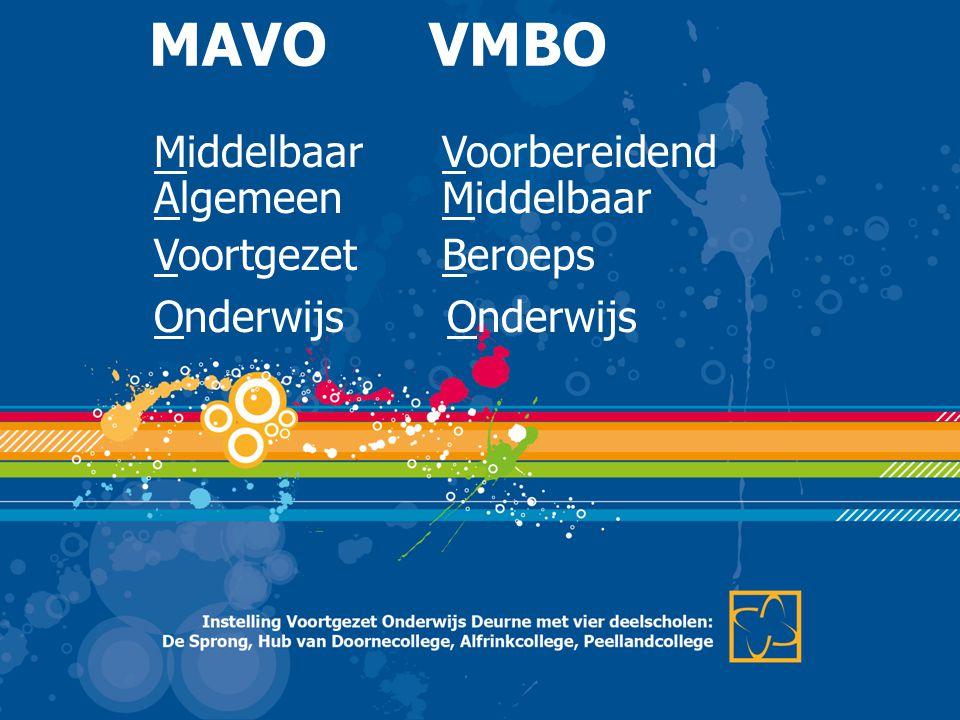 MAVO VMBO Middelbaar Voorbereidend Algemeen Middelbaar