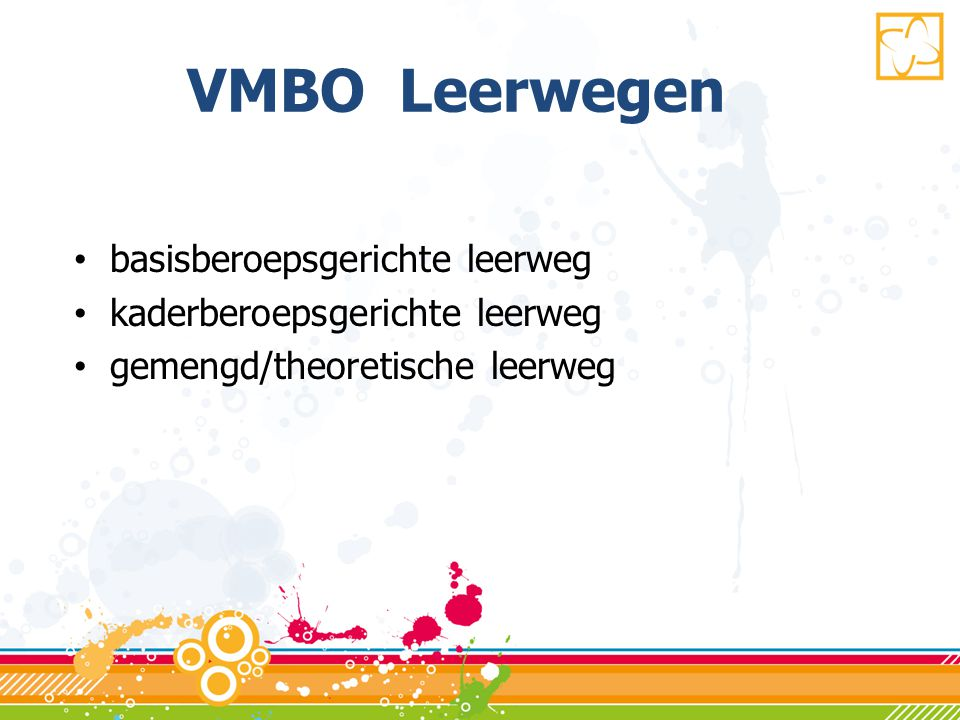 VMBO Leerwegen basisberoepsgerichte leerweg