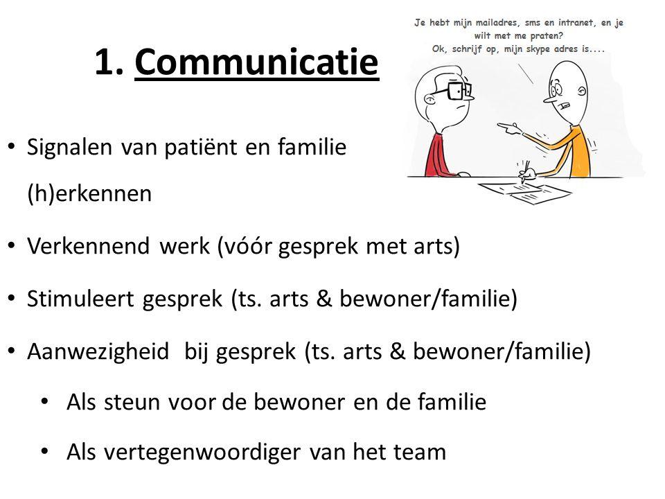 1. Communicatie Signalen van patiënt en familie (h)erkennen