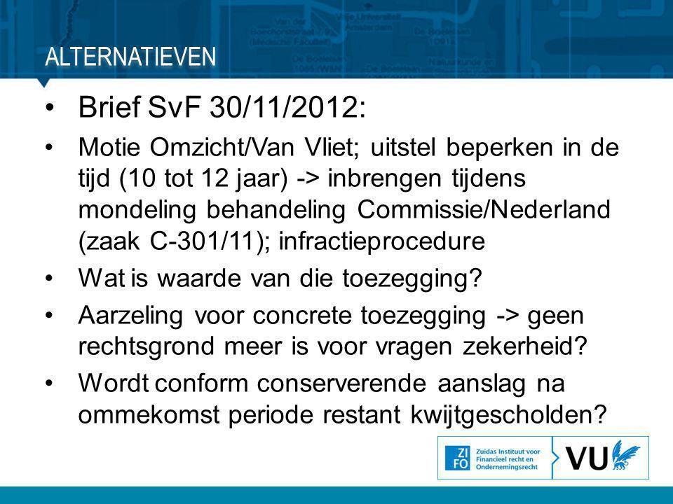 Brief SvF 30/11/2012: Alternatieven