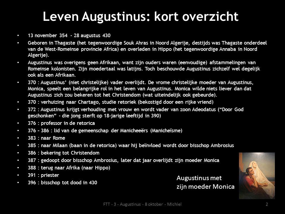 Leven Augustinus: kort overzicht