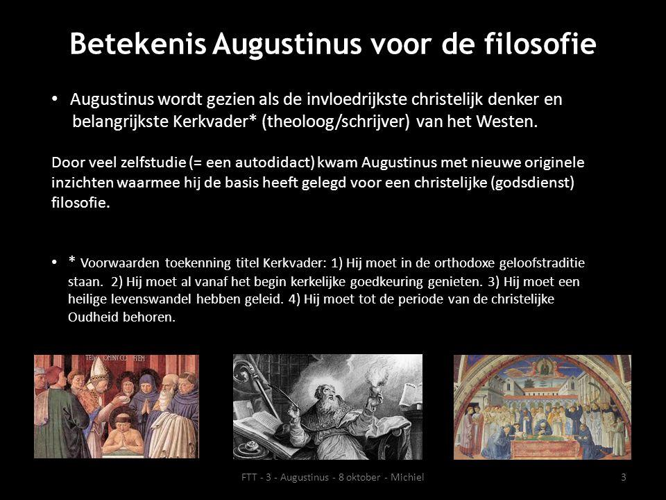 Betekenis Augustinus voor de filosofie