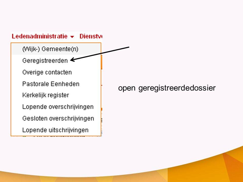 open geregistreerdedossier