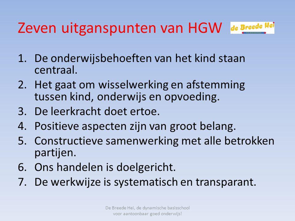 Zeven uitganspunten van HGW