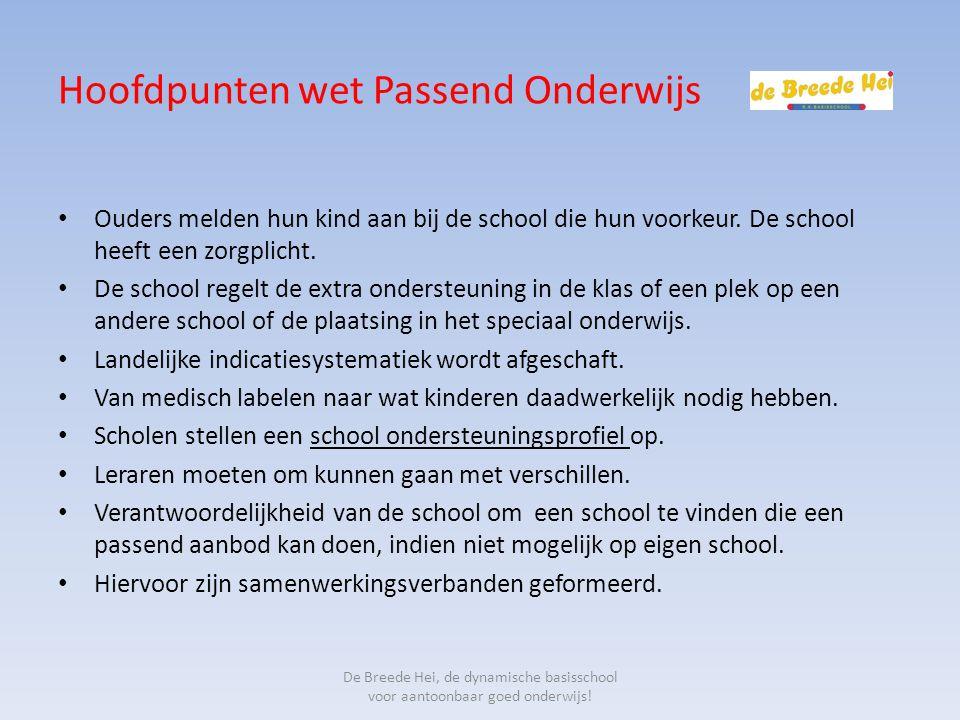 Hoofdpunten wet Passend Onderwijs