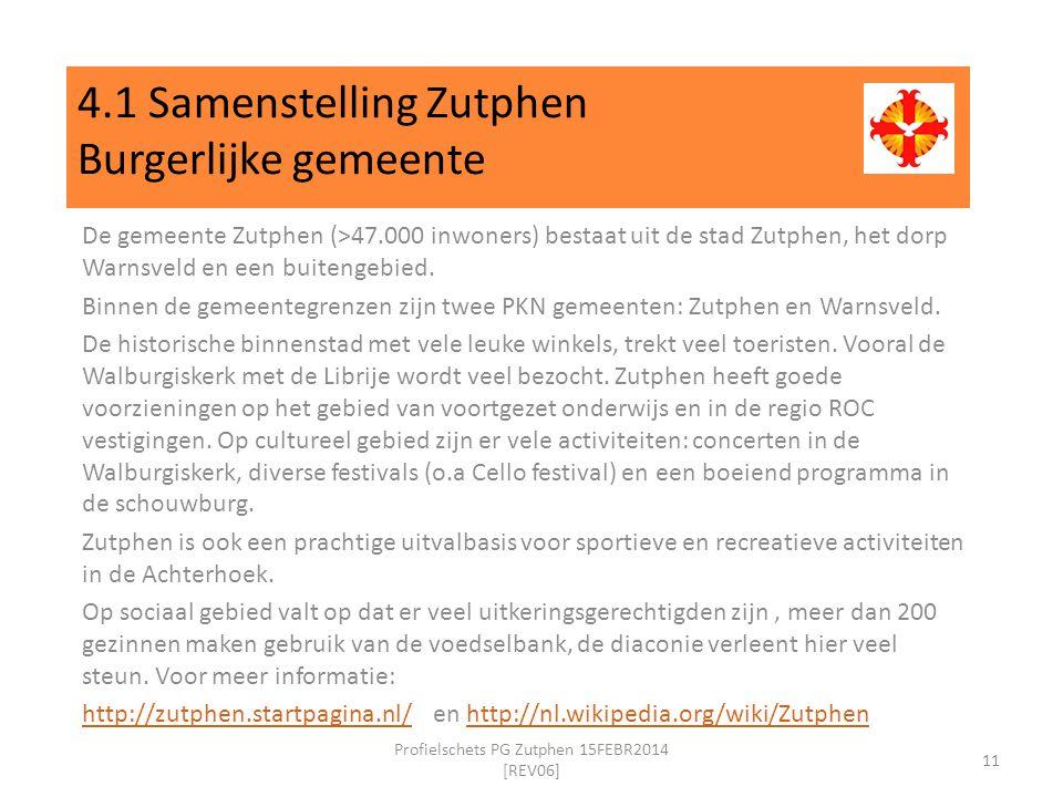 4.1 Samenstelling Zutphen Burgerlijke gemeente