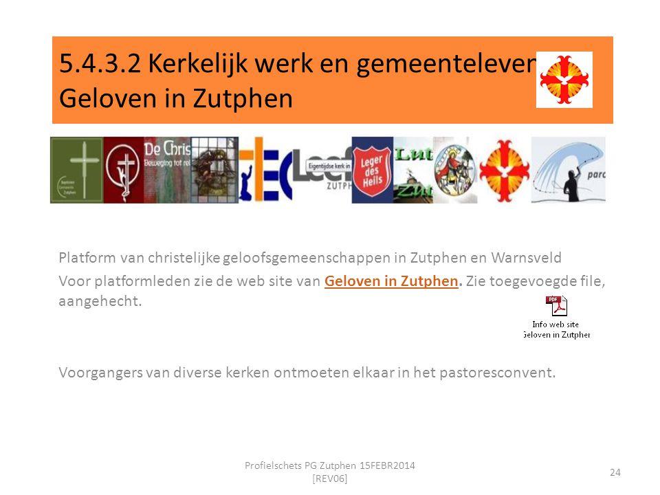 5.4.3.2 Kerkelijk werk en gemeenteleven Geloven in Zutphen