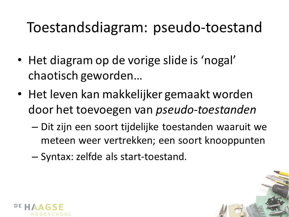 Toestandsdiagram: pseudo-toestand