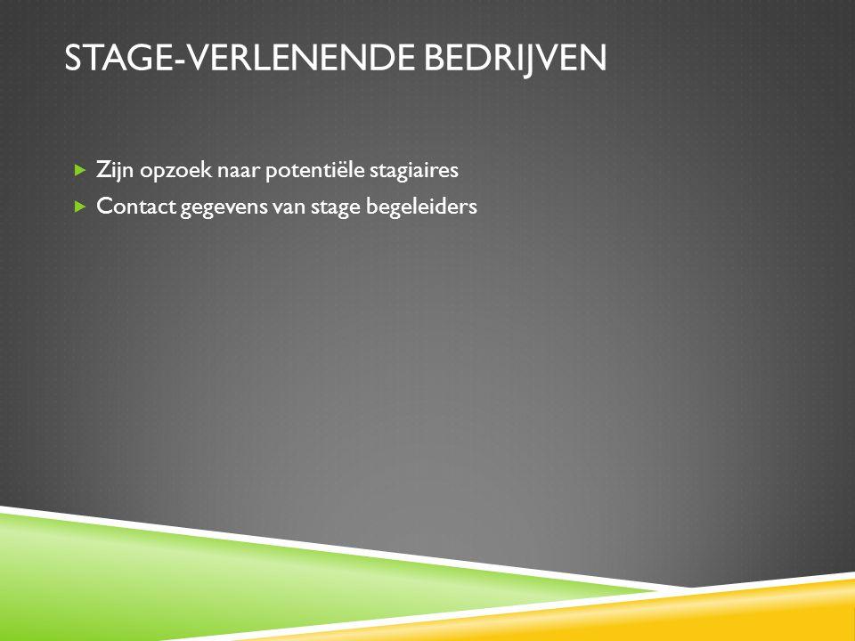 Stage-verlenende bedrijven