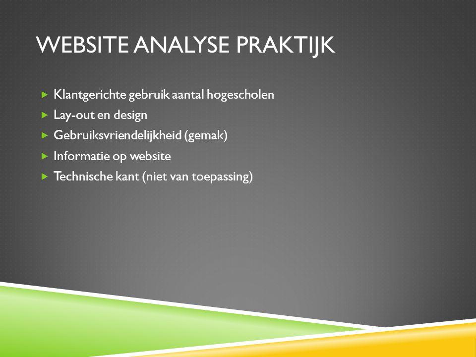 Website analyse praktijk
