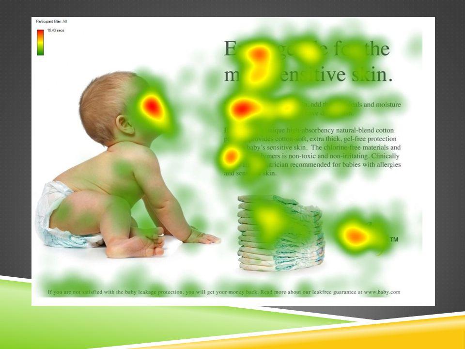 Op deze webpagina kijkt de baby niet naar de bezoeker maar naar de tekst.