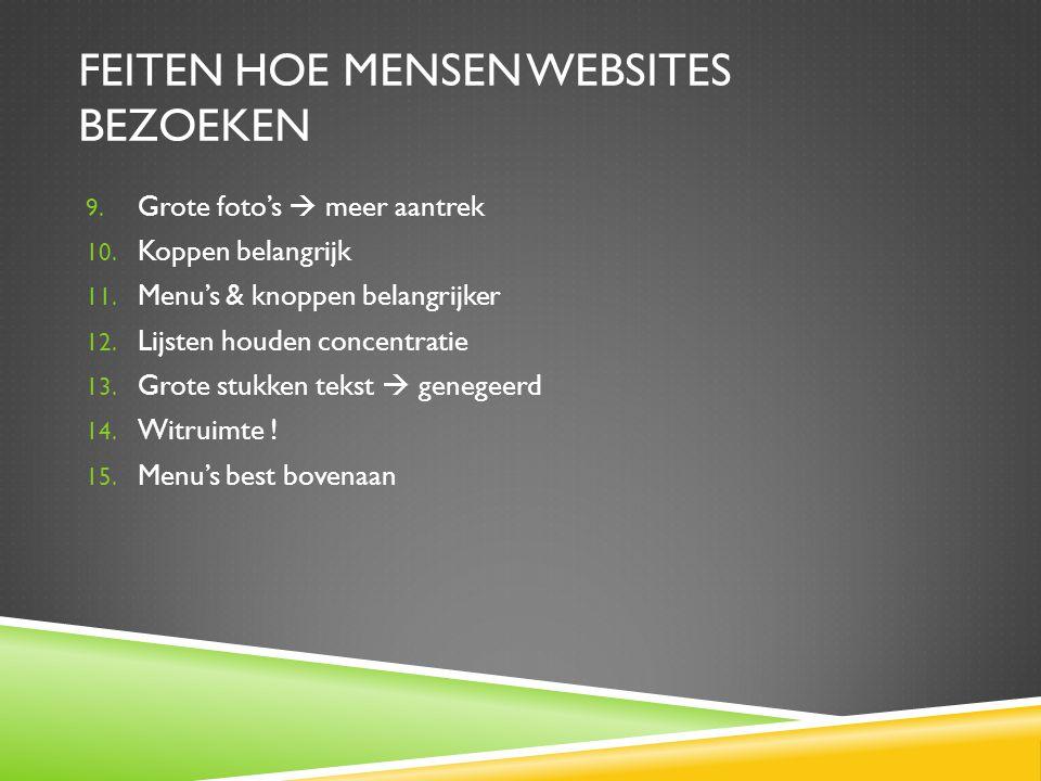 feiten hoe mensen websites bezoeken