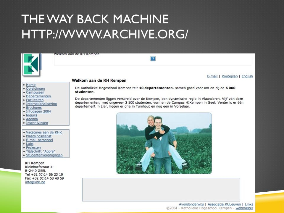 The way back machine
