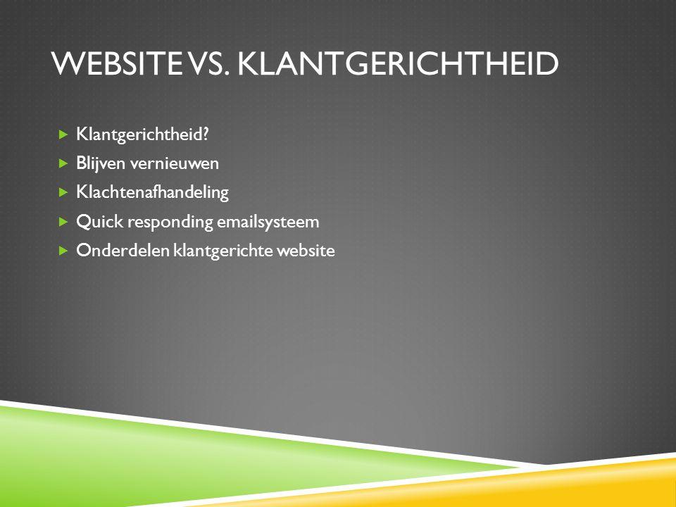 website vs. klantgerichtheid