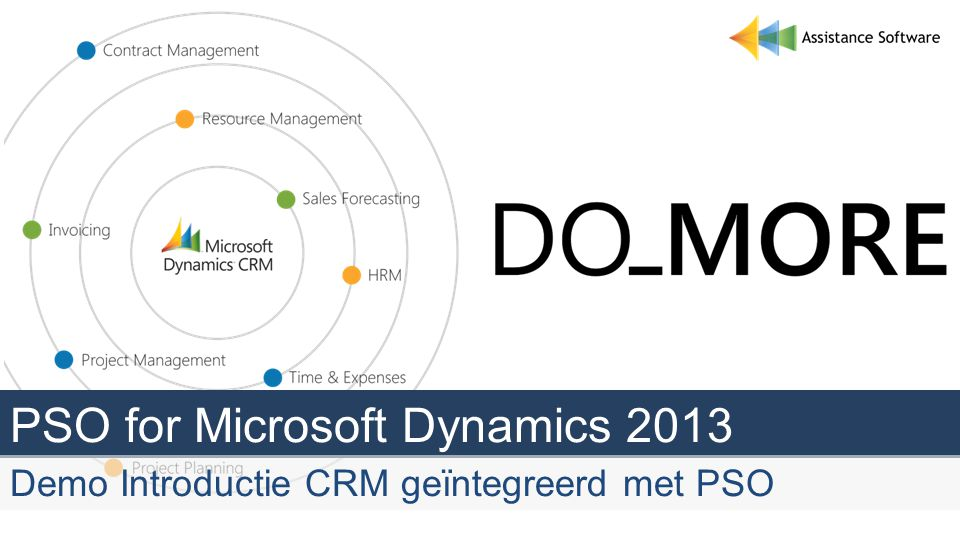 PSO for Microsoft Dynamics 2013