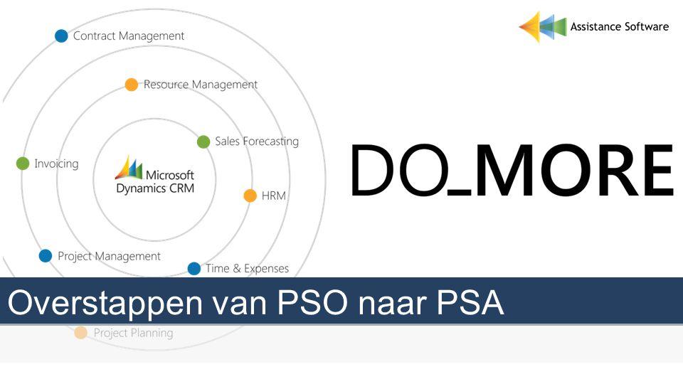 Overstappen van PSO naar PSA
