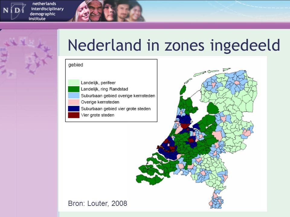 Nederland in zones ingedeeld