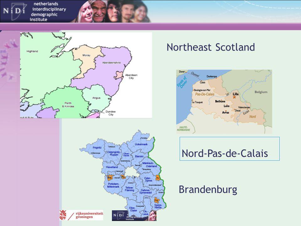 Northeast Scotland Nord-Pas-de-Calais Brandenburg