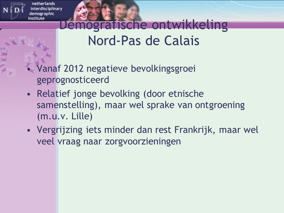 Demografische ontwikkeling Nord-Pas de Calais