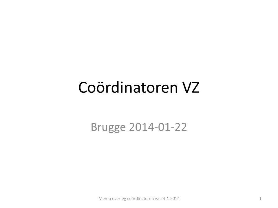 Memo overleg coördinatoren VZ 24-1-2014
