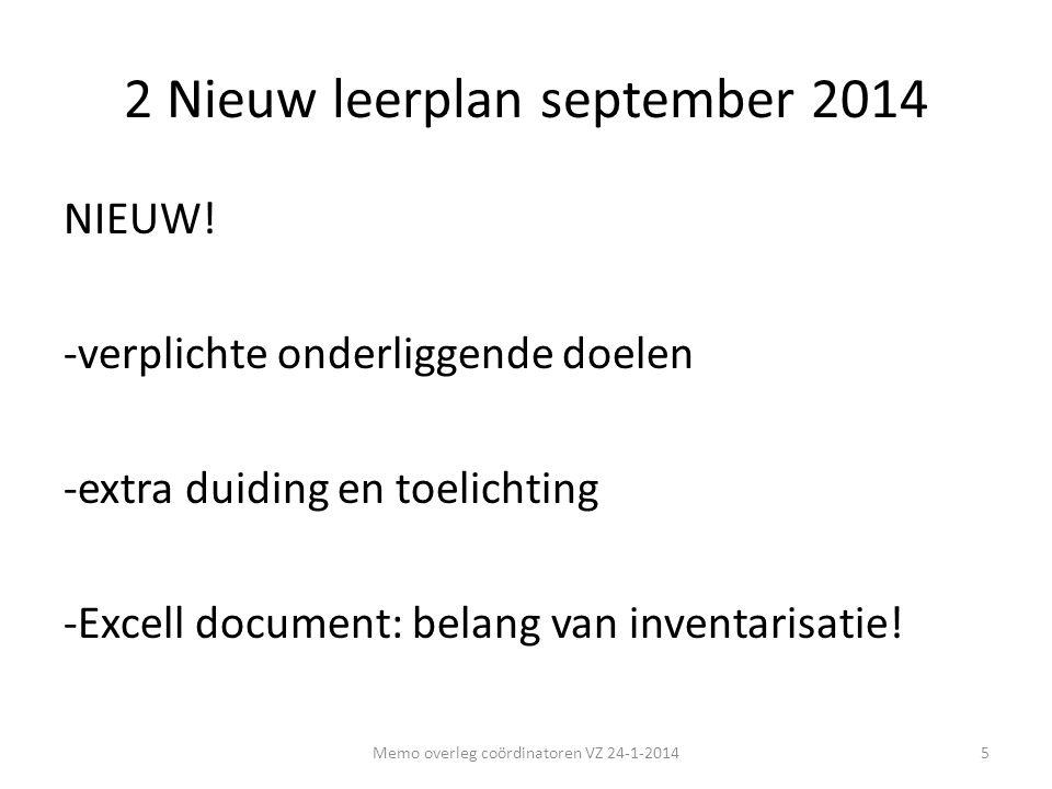 2 Nieuw leerplan september 2014